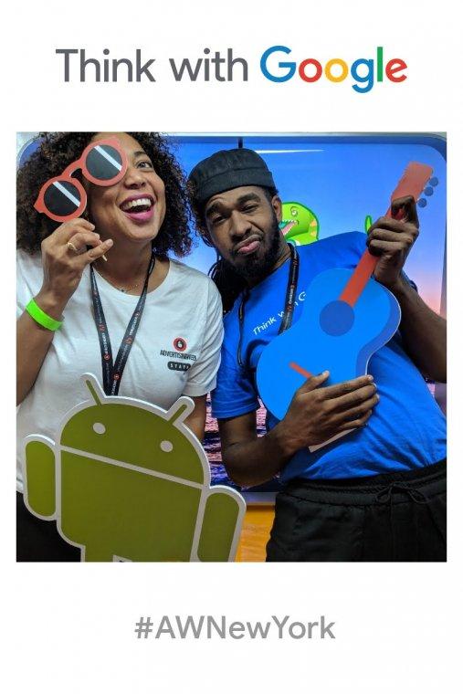 Evita at Google Photobooth during Advertising Week 2018